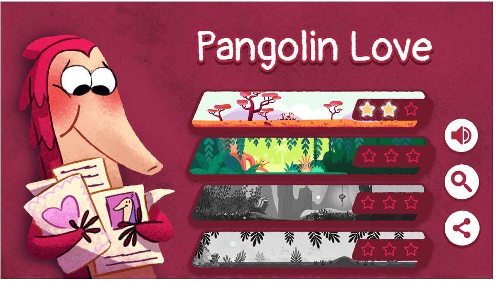 google doodle valentinstag level