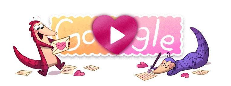Google-Doodle: Valentinstag 2017 [inklusive kurzweiligem Spiel] - GWB