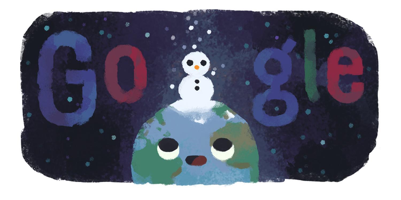google doodle winteranfang 2019