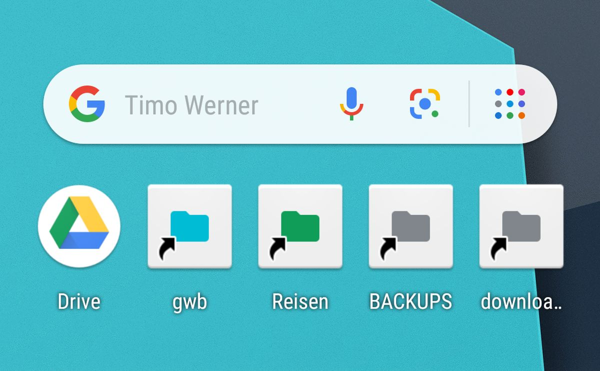 google drive folder android homescreen