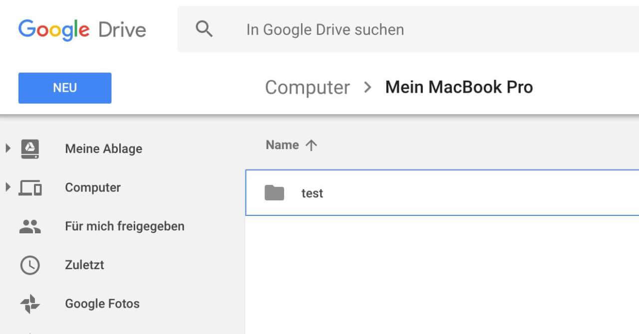 google drive folder