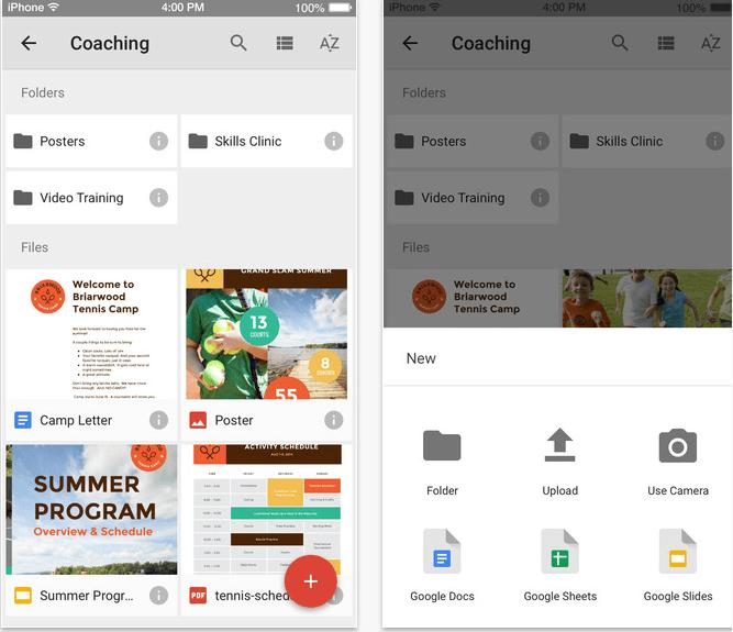 google drive ios material design
