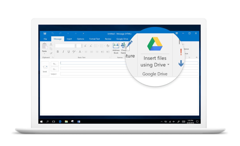 google drive outlook plugin