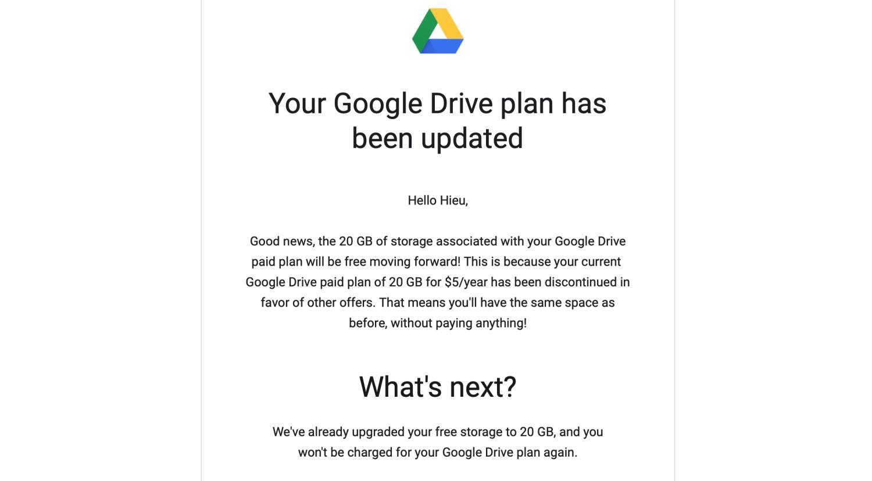 google drive storage free