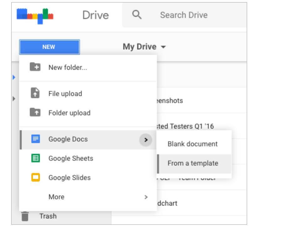 google drive templates