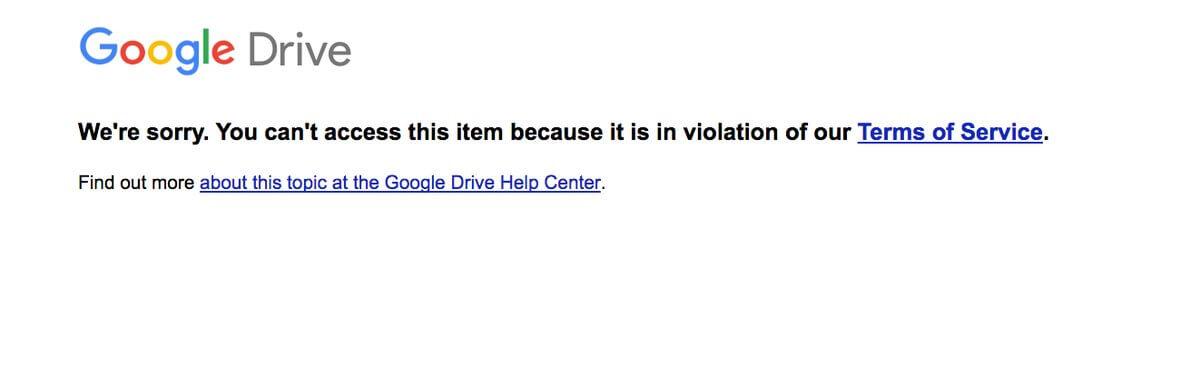google drive tos
