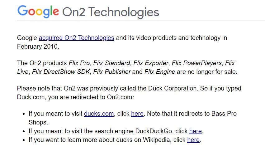 google duckcom