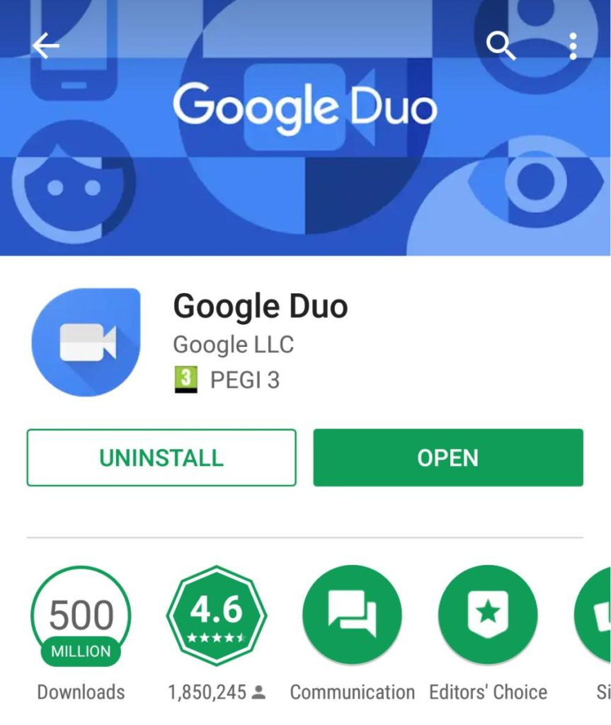 google duo 500 millionen