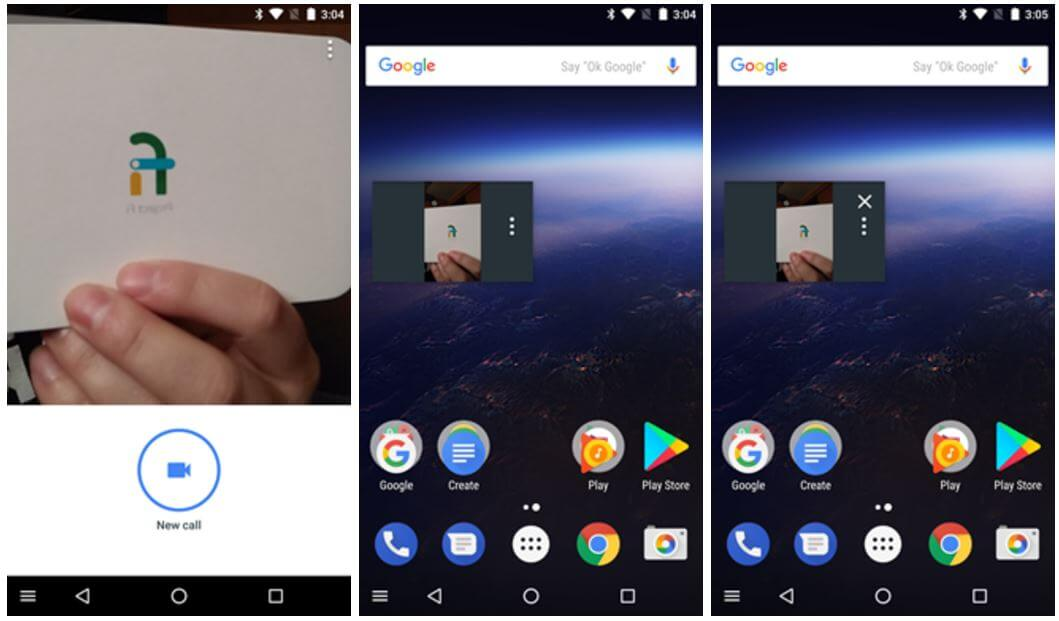 google duo android o pip