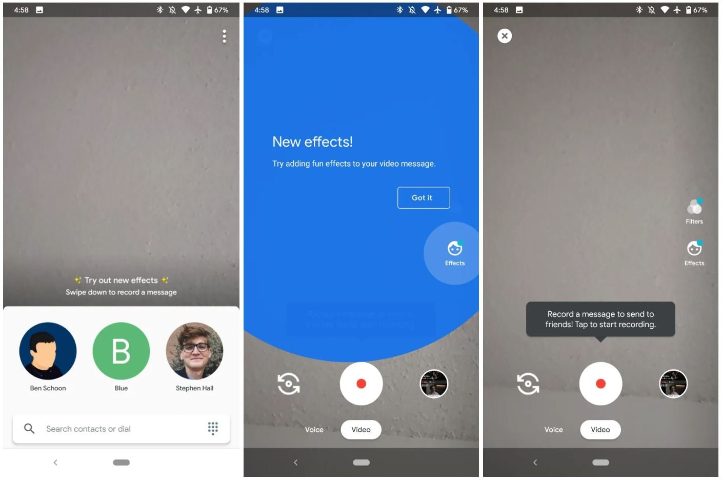 google duo filter effects