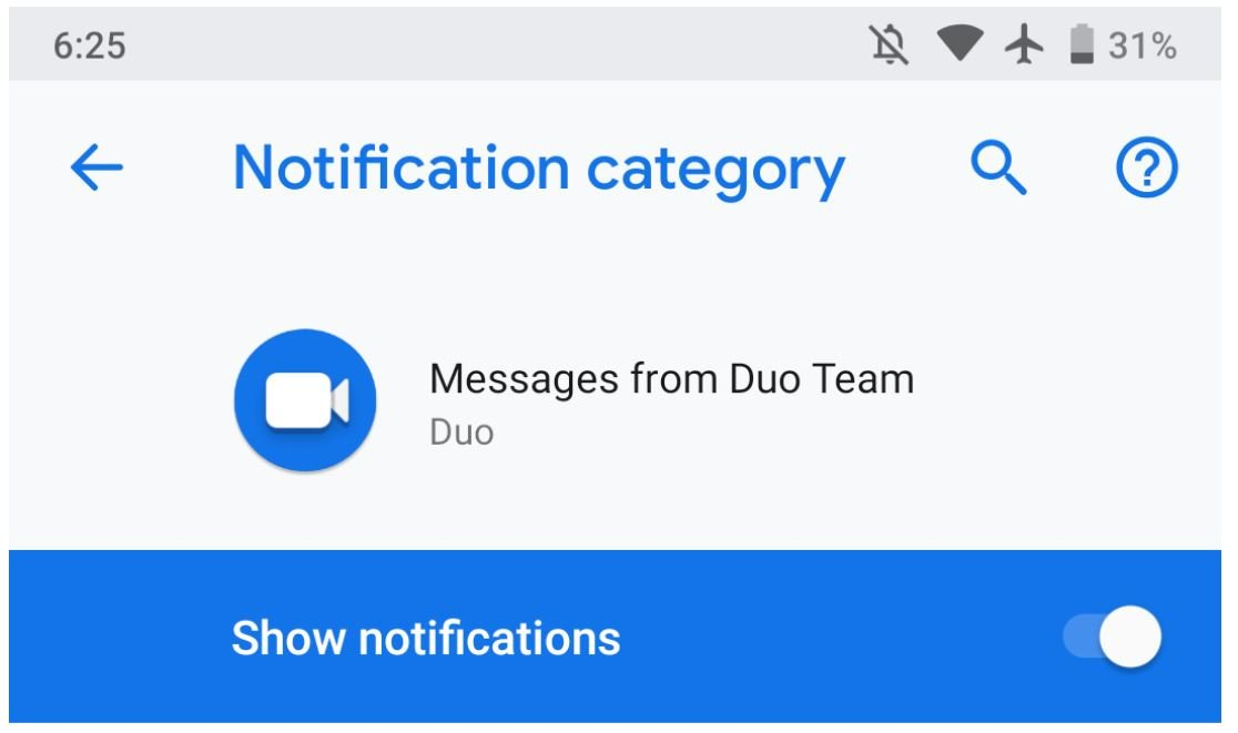 google duo notifications