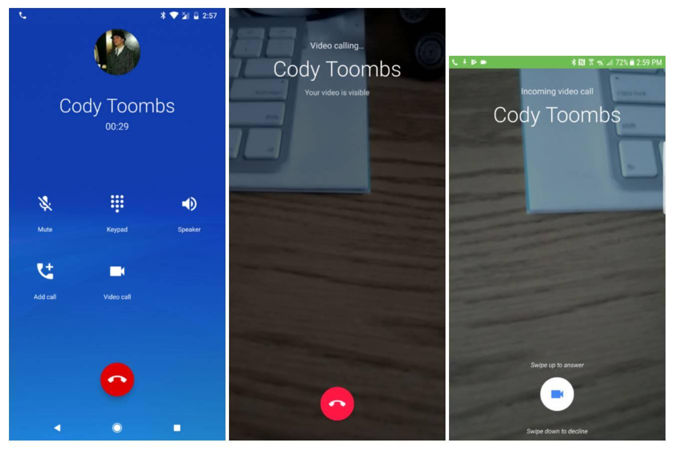 google duo phone call