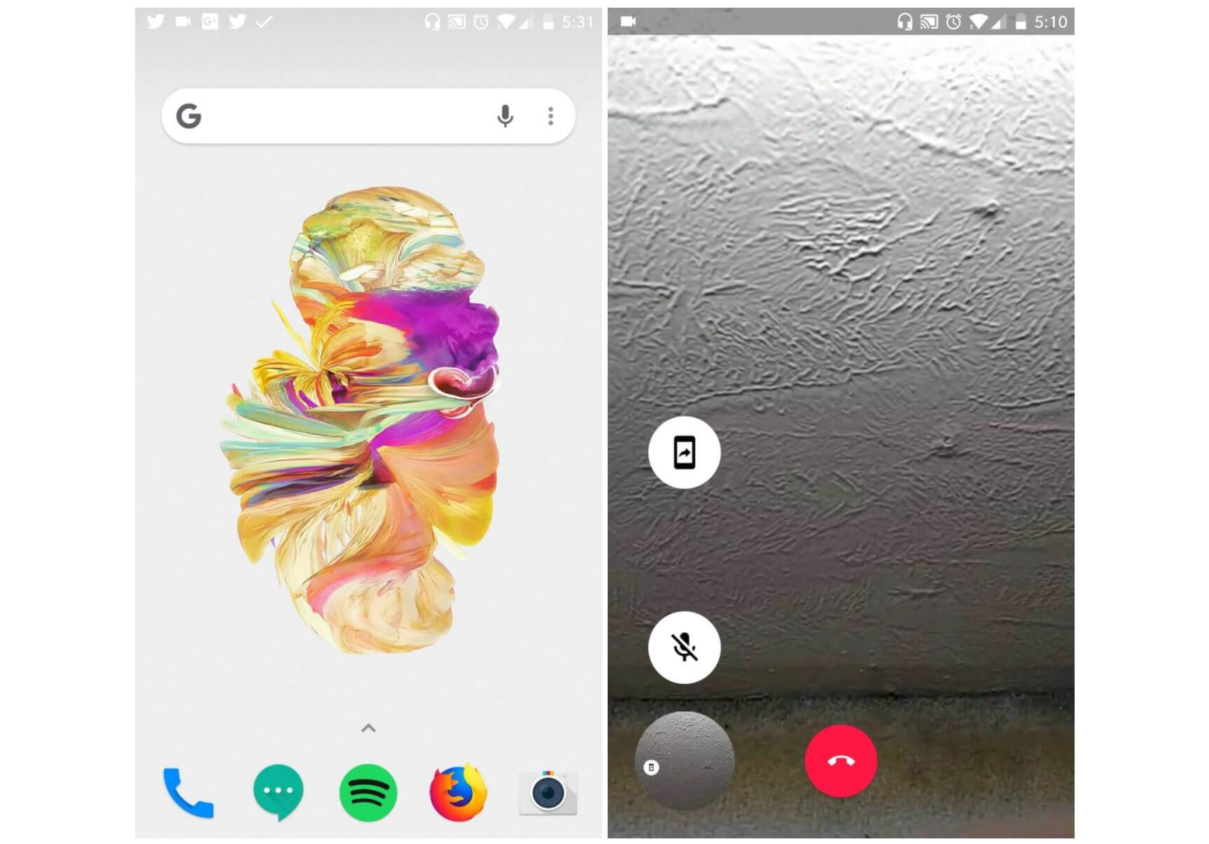 google duo video display