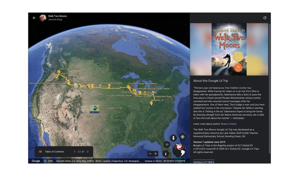 google earth 2 exkursion