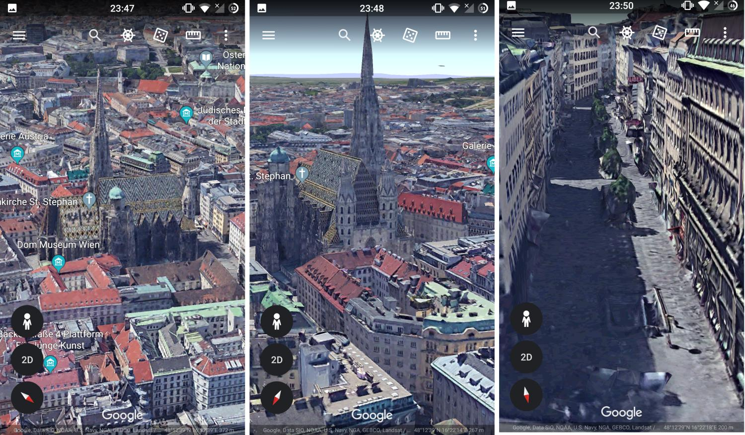 google earth buildings