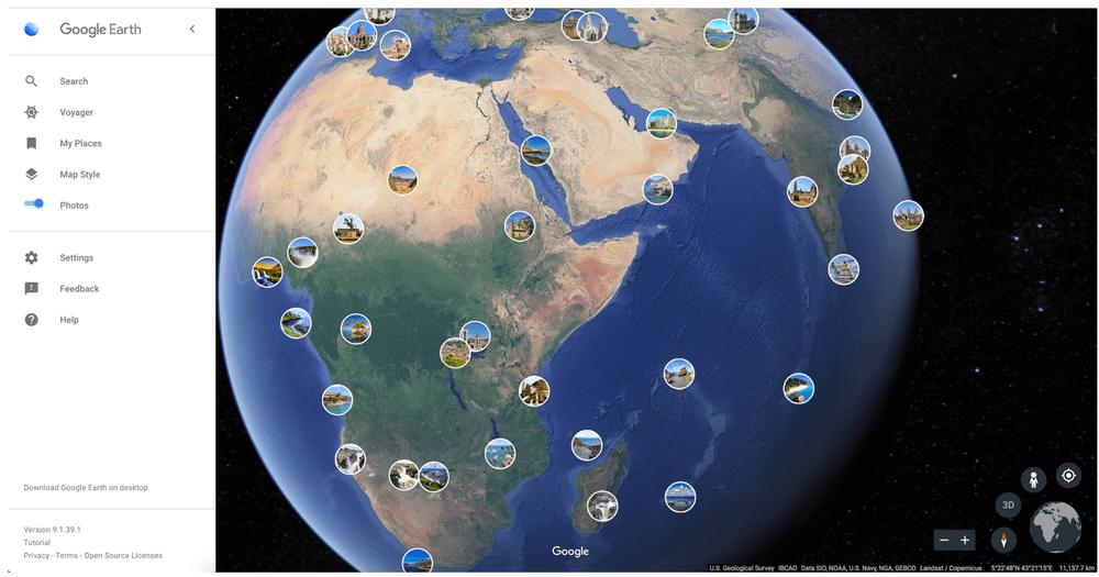 google earth photos