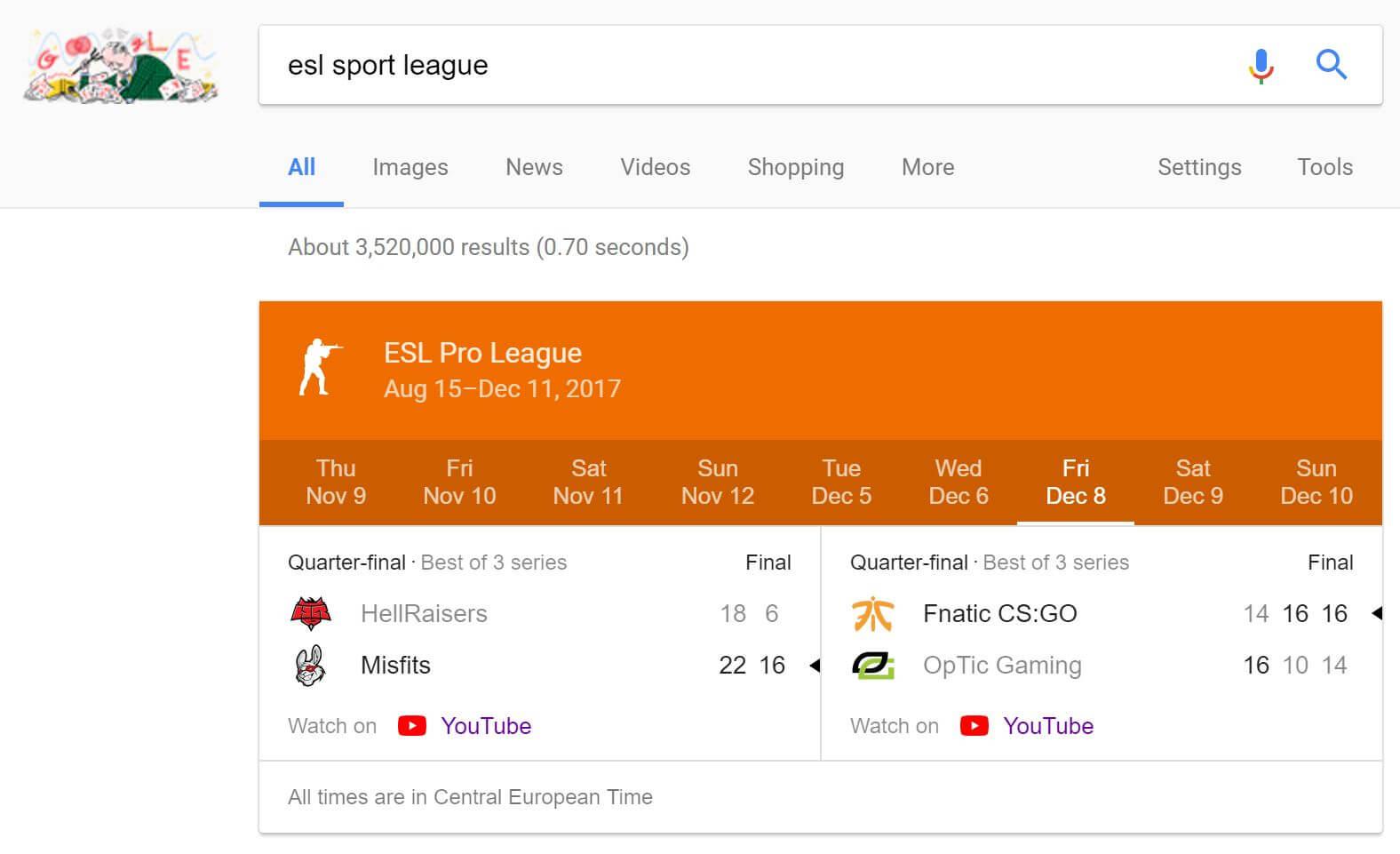 google esport