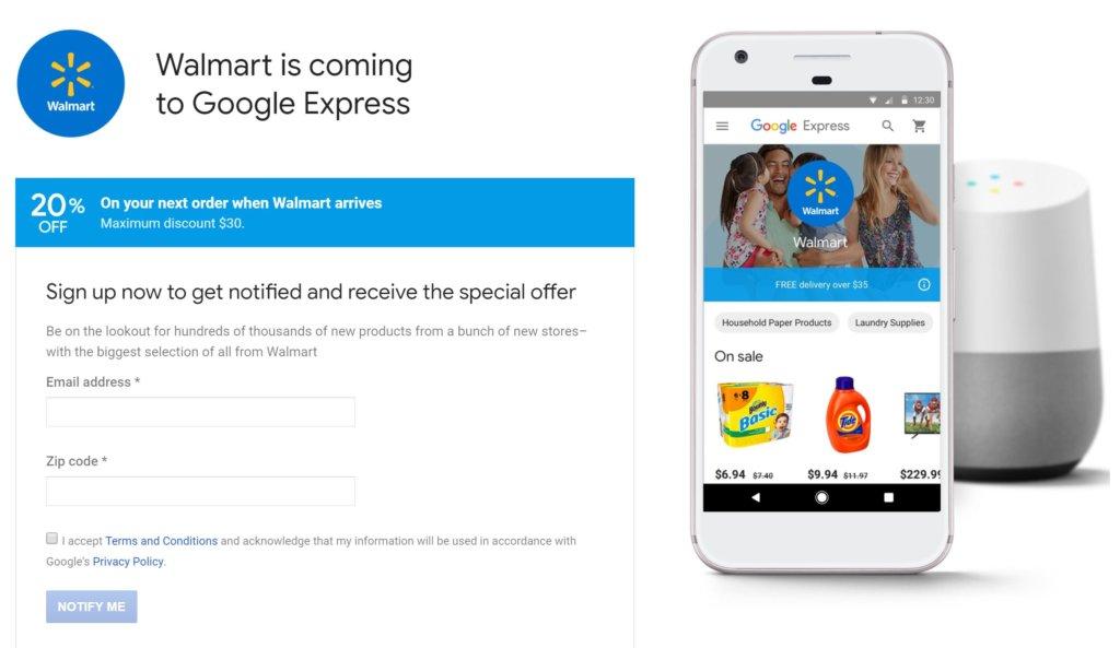 Google Express Wal Mart