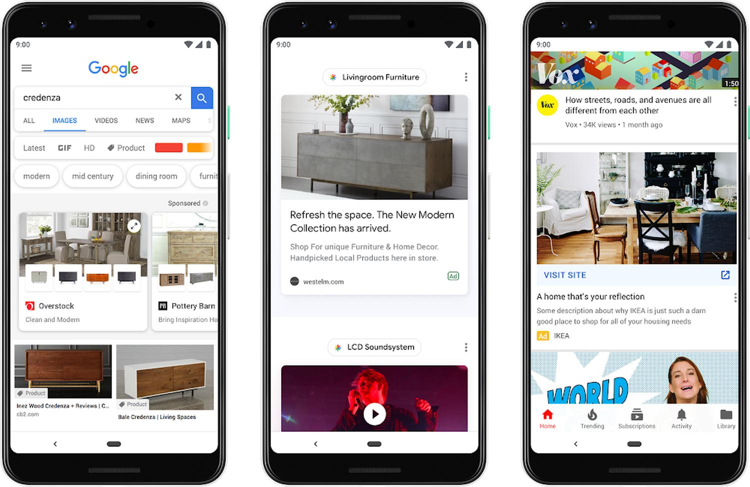 google feed dicover ads