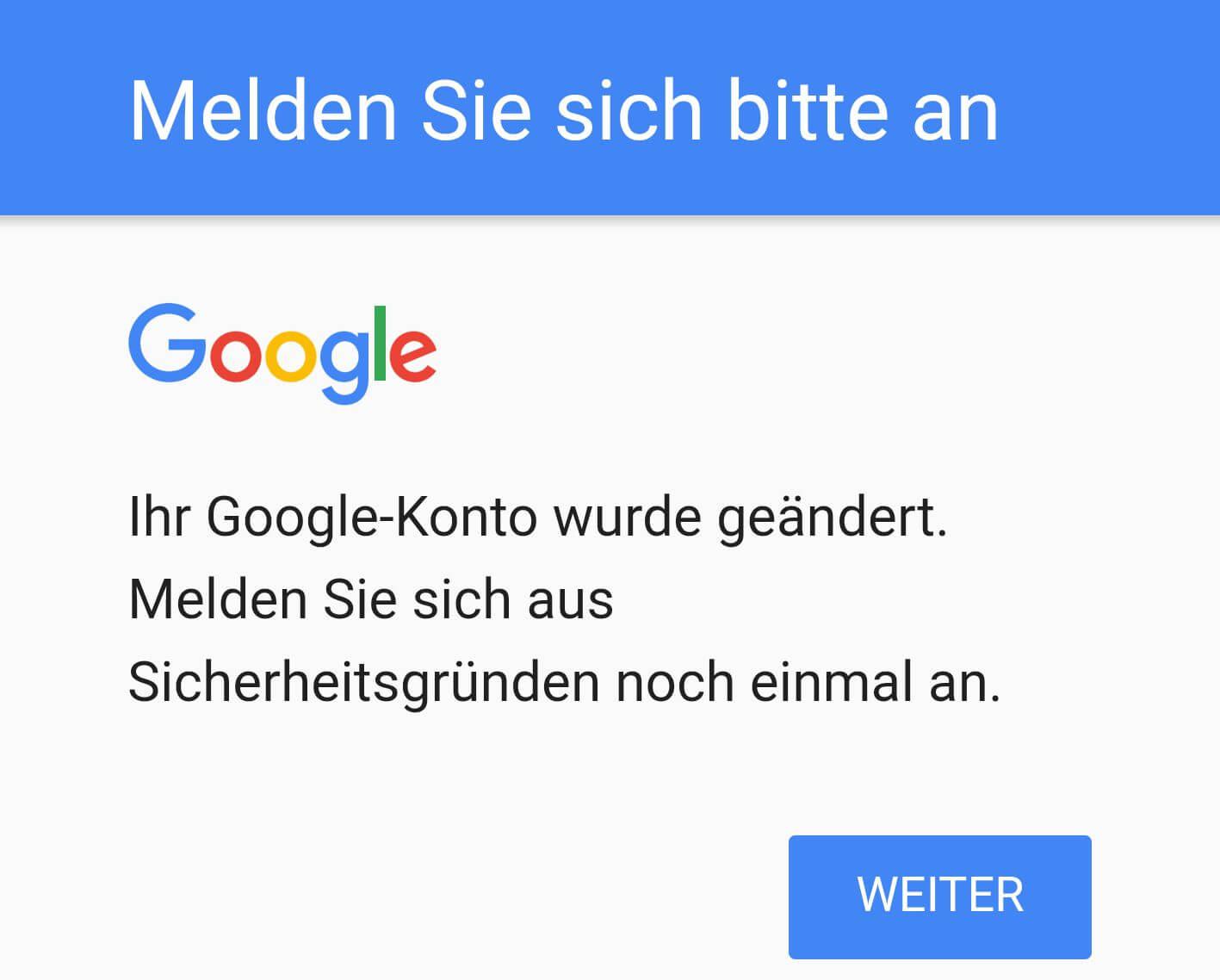 google fehler