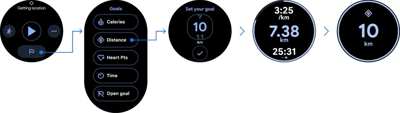 google fit goal festlegen