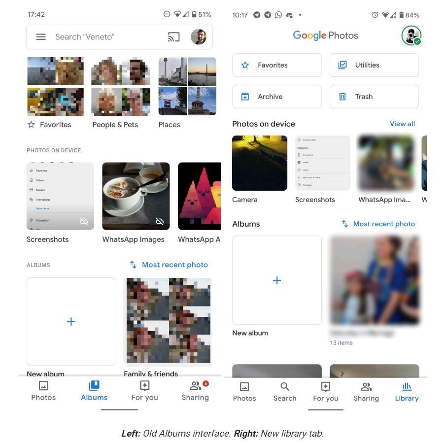 google fotos album tab