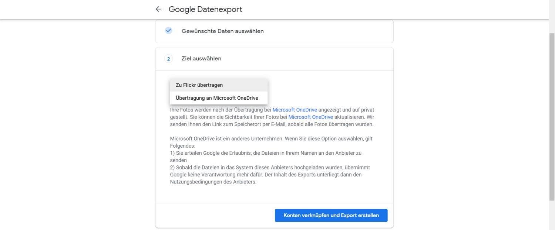 google fotos daten übertragen anbieter