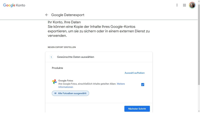 google fotos daten übertragen