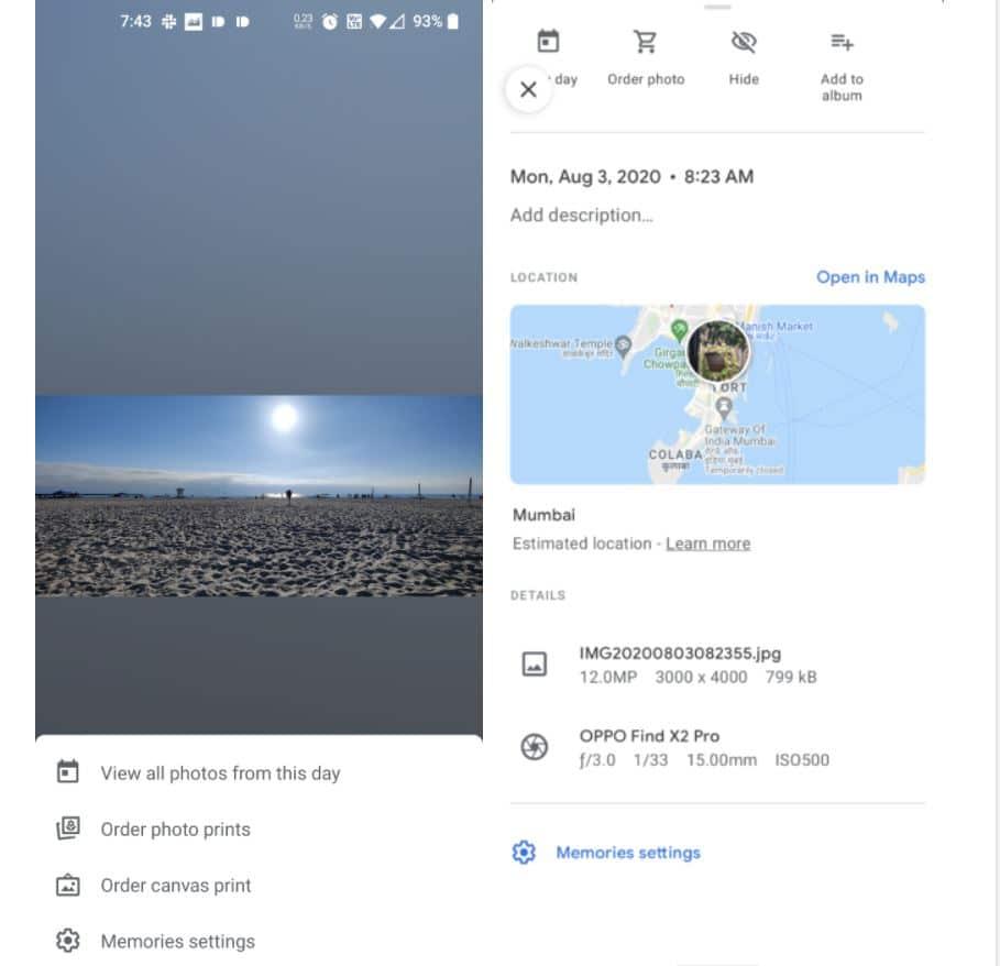 google fotos erinnerungen overlay