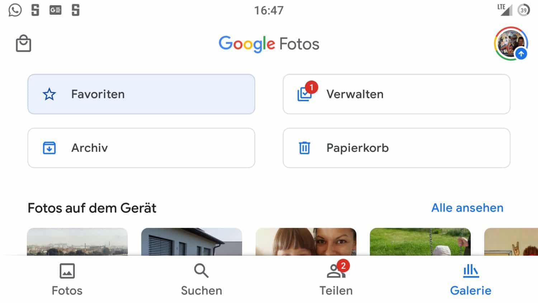 google fotos favoriten