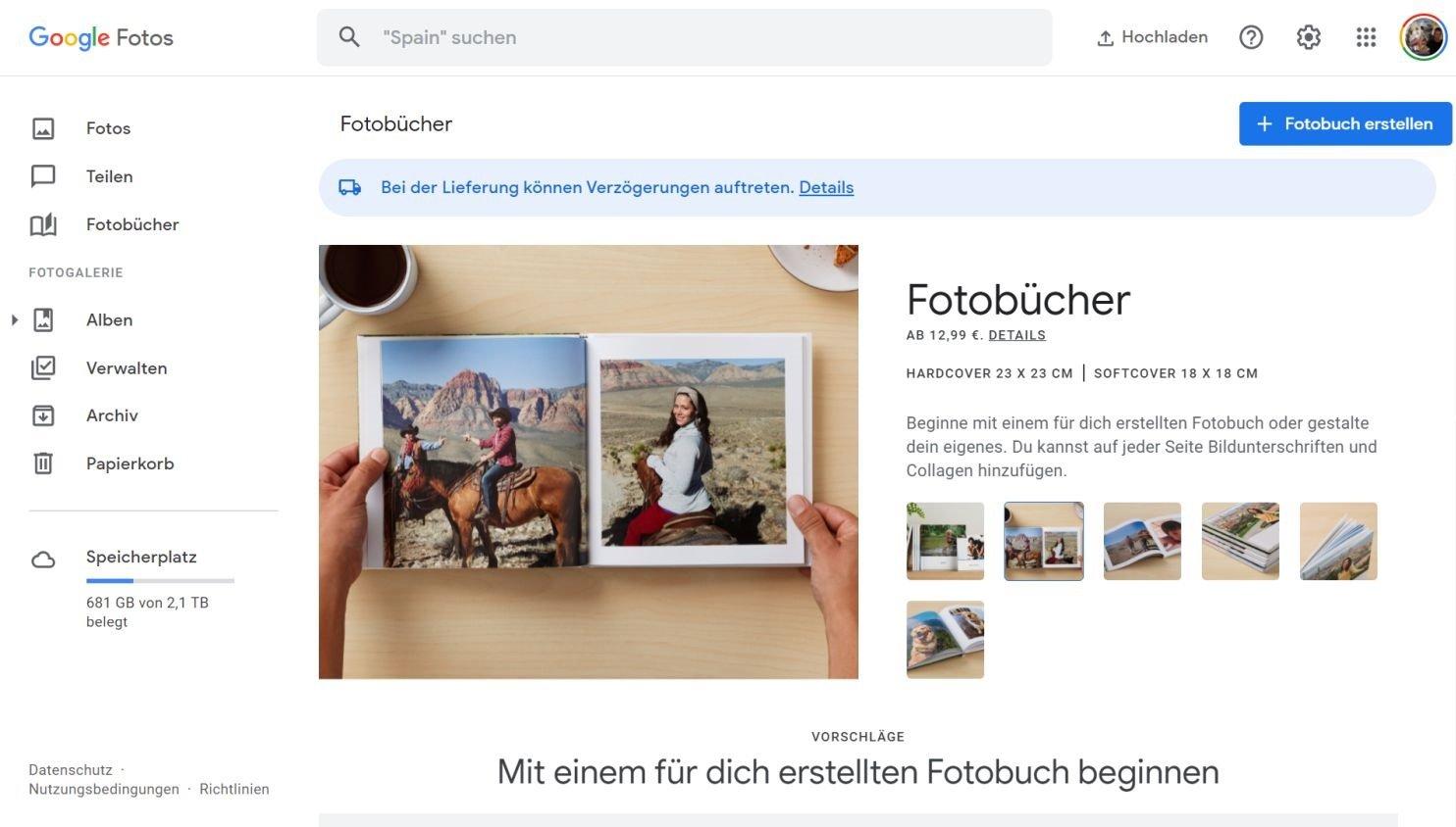 google fotos fotobuch