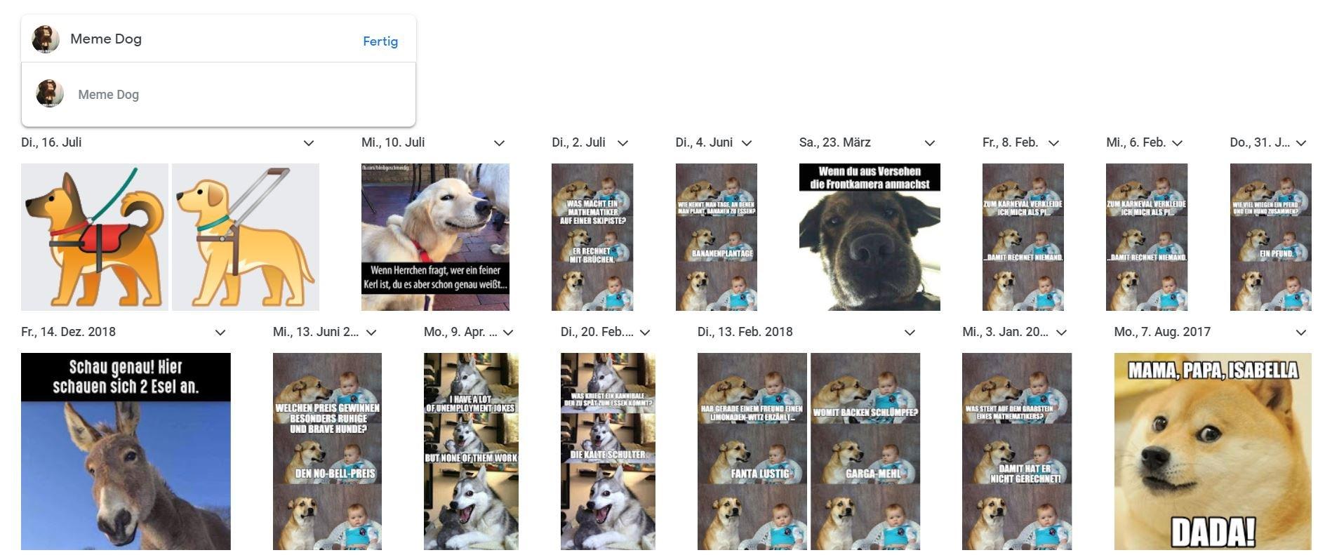 google fotos gesichter namen