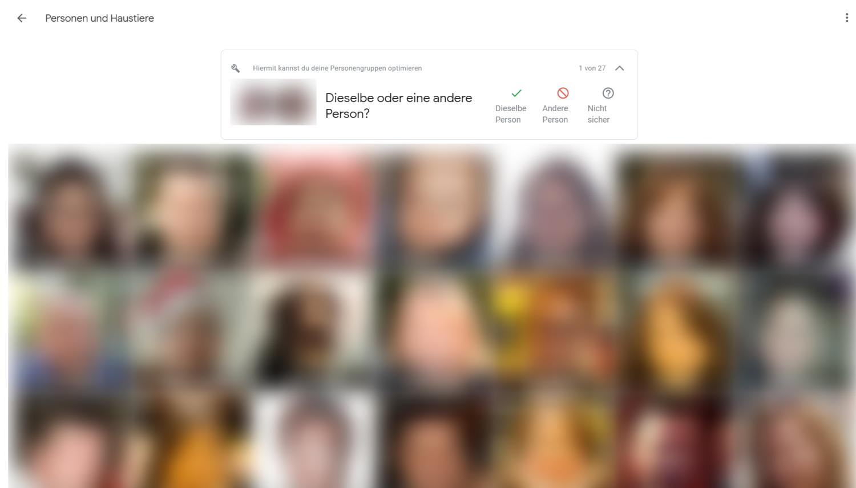 google fotos gesichter