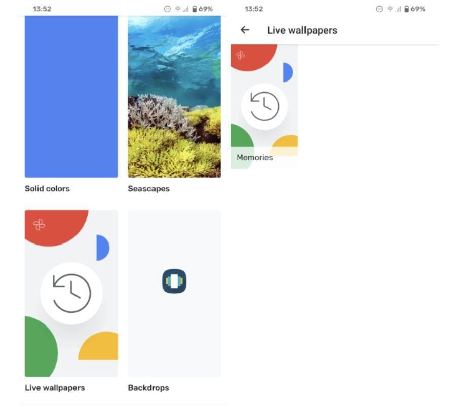 google fotos live wallpaper