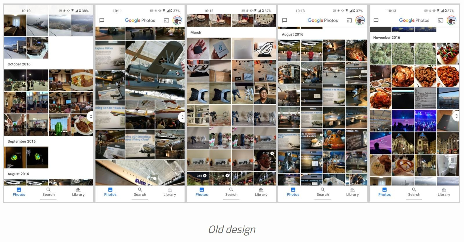 google fotos material you old
