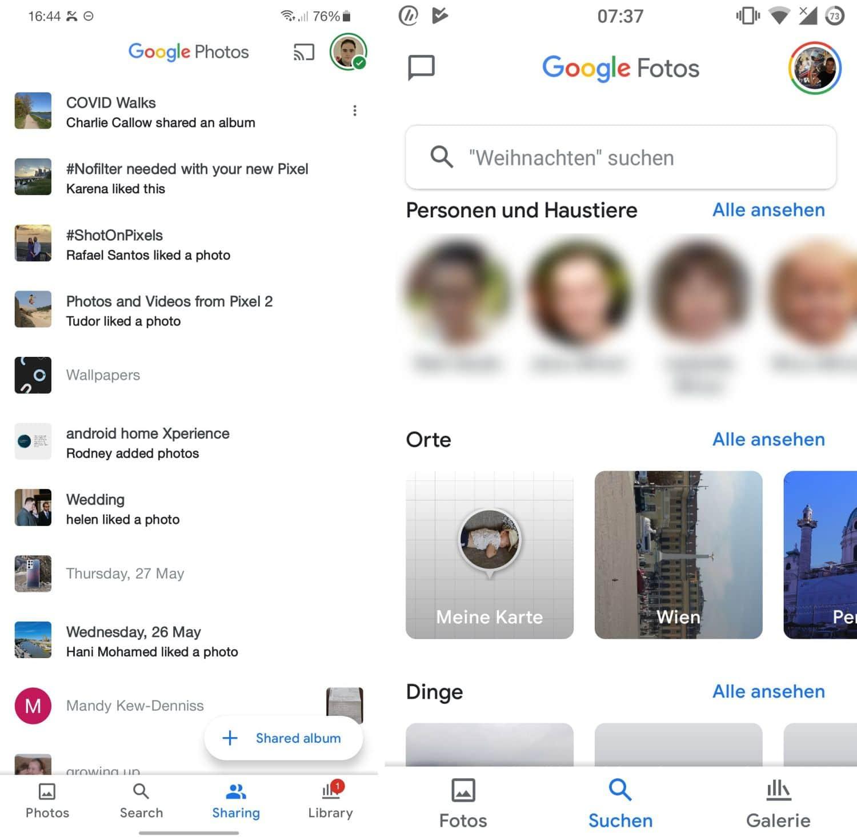 google fotos navigation