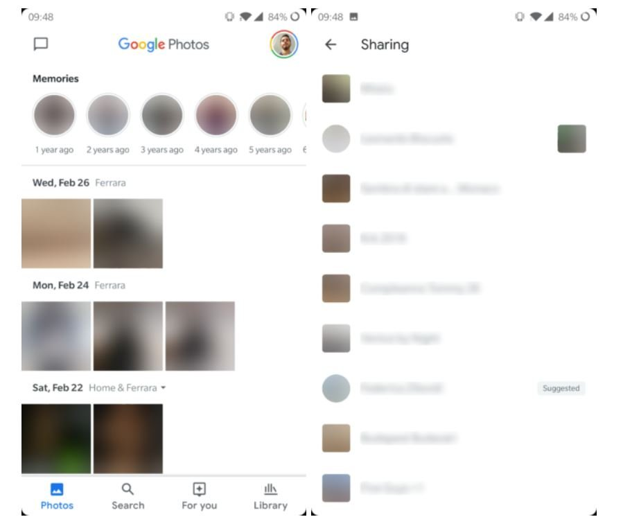 google fotos neues design 4 tabs