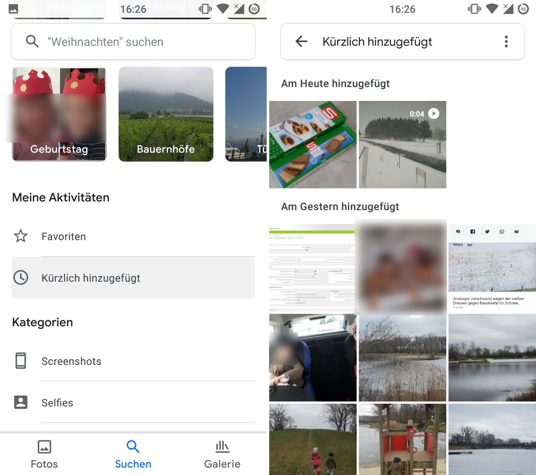 google fotos uploaddatum