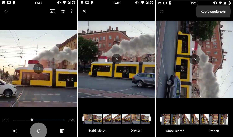 google fotos videos bearbeiten
