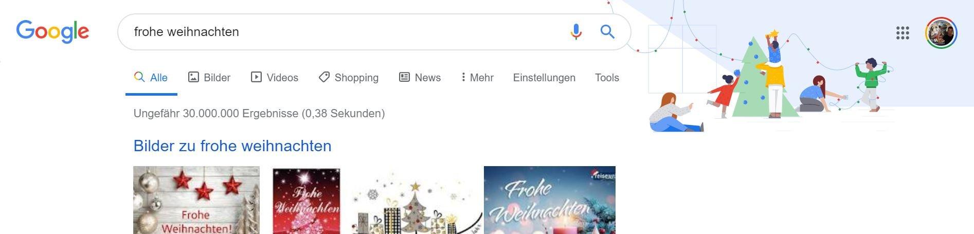 google frohe weihnachten