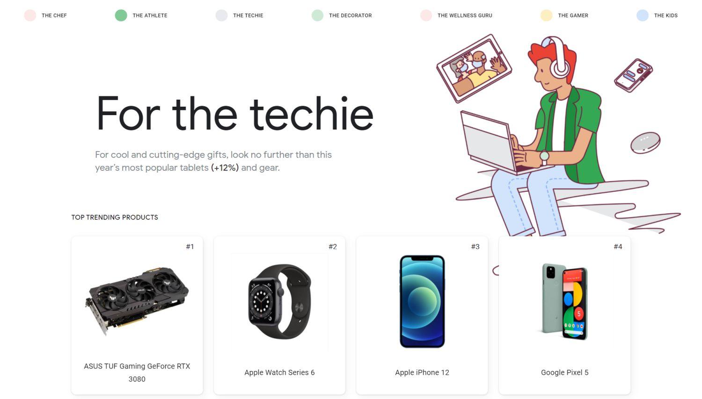 google geschenke techie