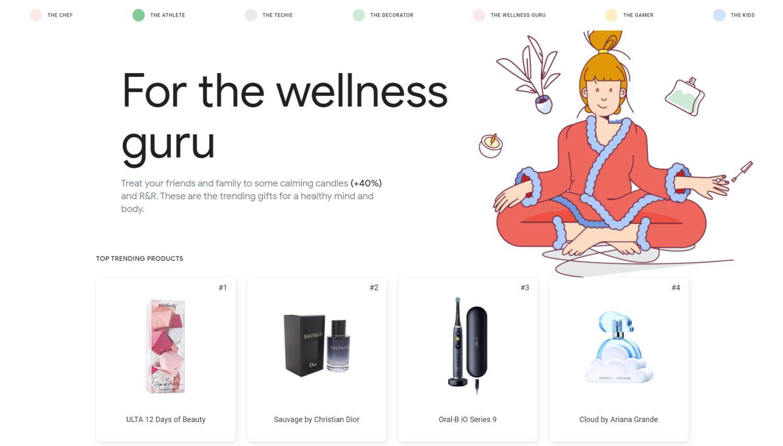 google geschenke wellness