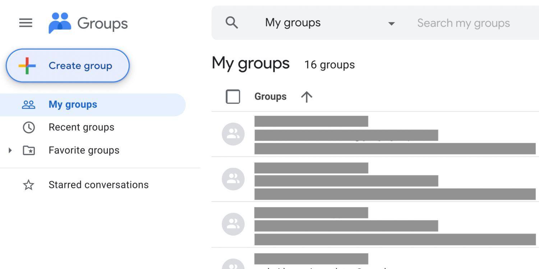 google groups new design