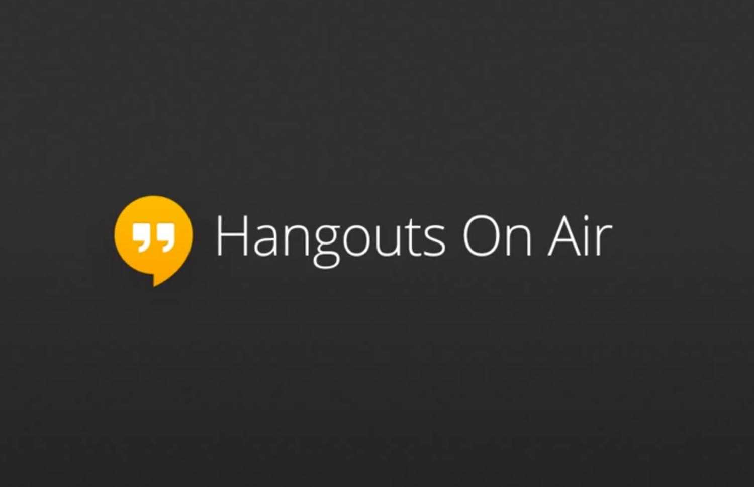 google hangouts on air logo