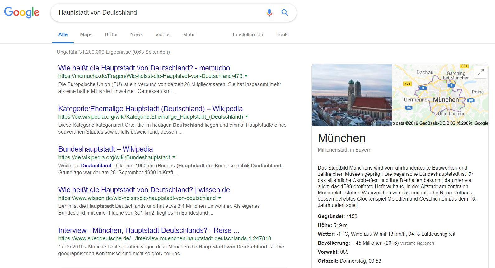 google hauptstadt muenchen