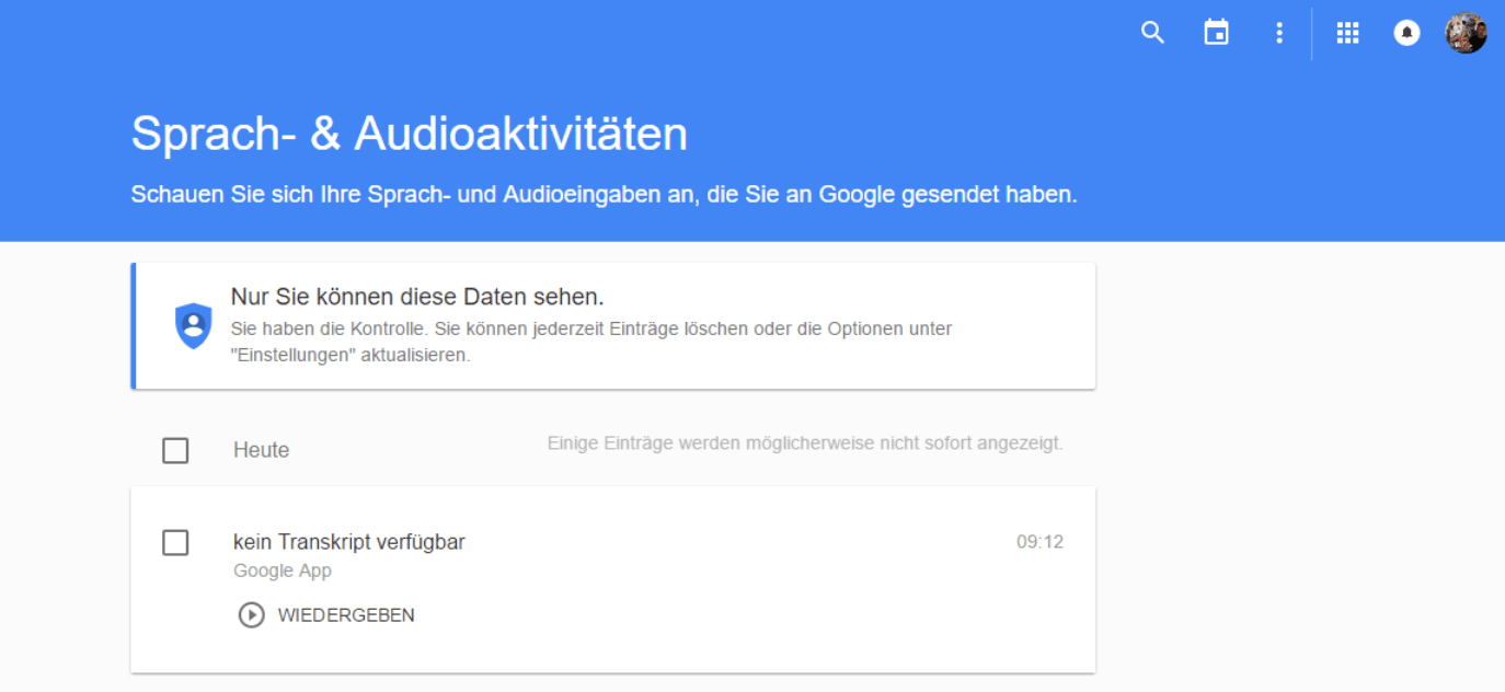 google-history-audio
