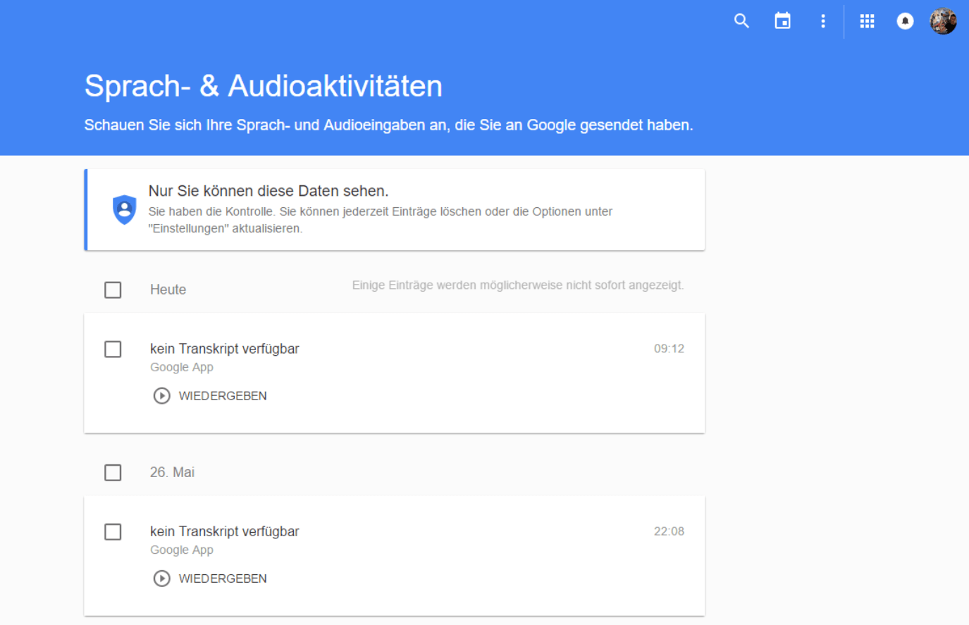 google history audio