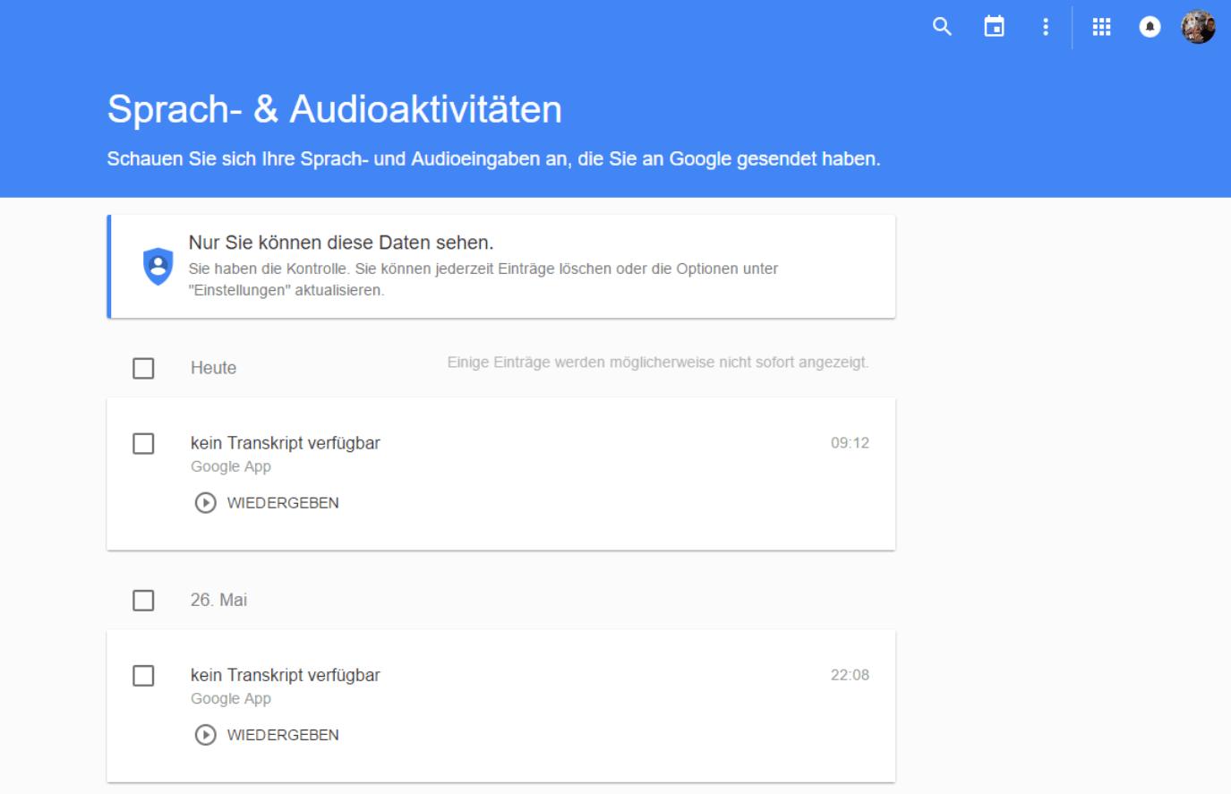 google history audio