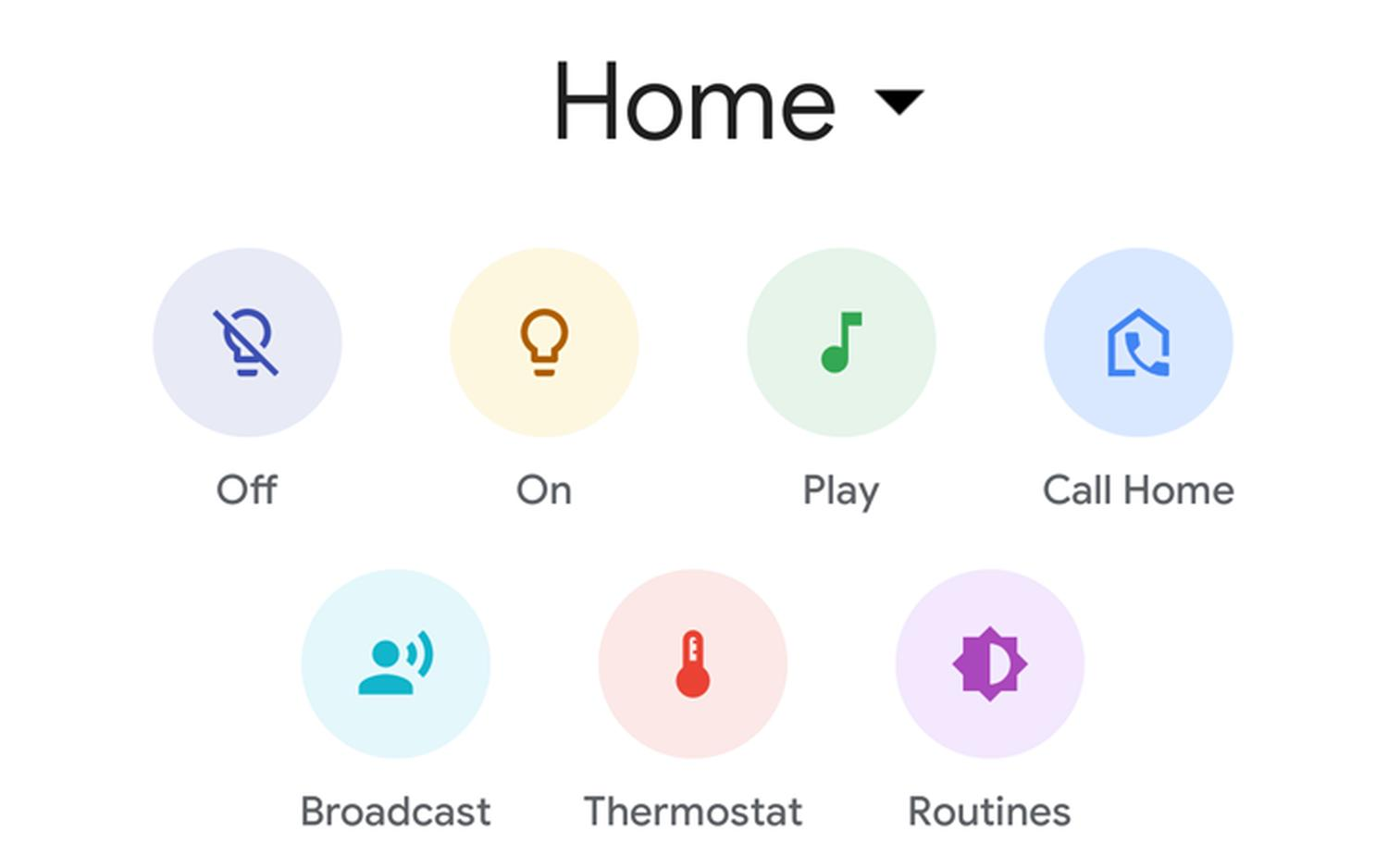 google home call home