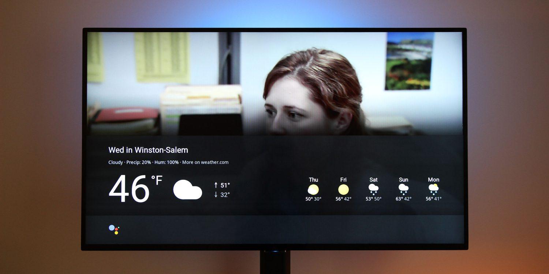 google home chromecast wetter